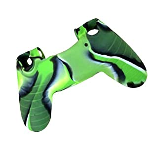 [2 Pack] PlayStation-4-Controller-Case SlickBlue Camo Series - Silicone Protection Case Skin for Sony PS4 Controllers - Green (Color: 2-Pack-Camouflage-Green)