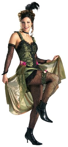 Rubie'S Costume Grand Heritage Collection Deluxe Saloon Girl Costume, Green, Medium front-506457