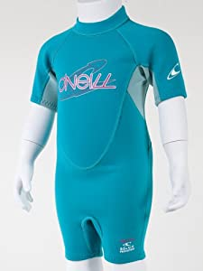 O'Neill Wetsuits Toddler Reactor 2mm Spring Suit (Turquoise/Seabreeze, 4)