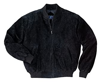 Port Authority - Sueded Leather Letterman Jacket, XS, Black and Black