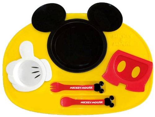 Lovely Mickey Baby's Feeding Plates Set Unisex - 1