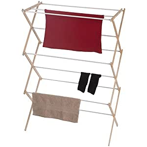 Home 23 39 vinyl wooden clothes drying rack use small living spaces portable - Laundry drying racks for small spaces property ...