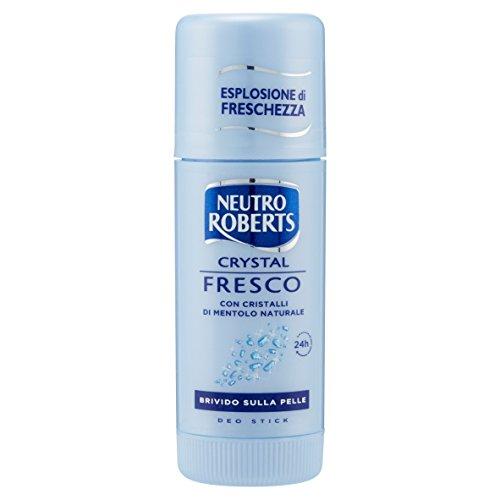 Neutro Roberts - Deo Stick Fresco, con Cristalli di Mentolo Naturale - 40 ml