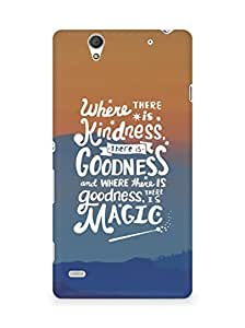 AMEZ where there is kindness there is goodness Back Cover For Sony Xperia C4