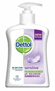 Dettol Liquid Soap Pump, Sensitive pH- Balanced Handwash - 225 ml