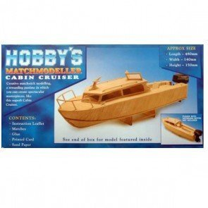 Cabin Cruiser - Matchmodeller matchstick model construction craft kit by Matchmodeller