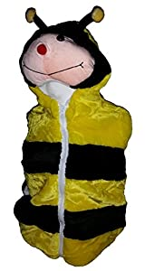 Fashion Vest with Animal Hoodie for Kids - Costume - Pretend Play (Medium, Bee)