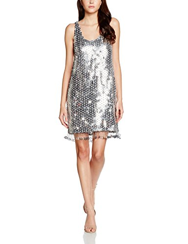 french-connection-cindy-sparkle-robe-femme-argente-silver-38-taille-fabricant-10