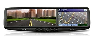 Pyle Car Vehicle HD DVR Camera & Mirror Monitor Kit with GPS Navigation