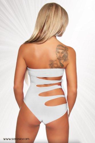 Weißer Monokini Damen weiß S Badeanzug sexy / Beachwear
