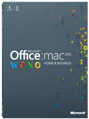 Microsoft Office for Mac Home and Business 2011-1 パック