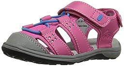 See Kai Run Kenai Closed Toe Sandal (Toddler/Little Kid), Hot Pink, 3 M US Little Kid