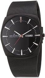 Skagen Men's SK696XLTBB Titanium Black Dial Watch