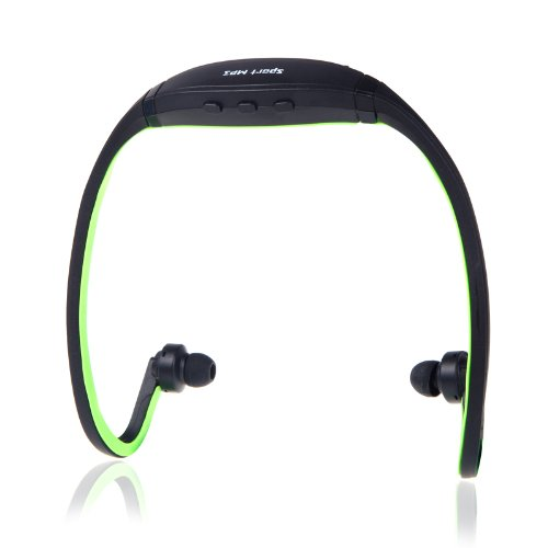 Docooler Sport Mp3 Wma Music Player Tf/ Micro Sd Card Slot Wireless Headset Headphone Earphone (Green)