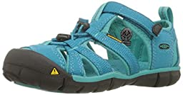 KEEN Seacamp II CNX Sandal (Toddler/Little Kid/Big Kid),Baltic/Caribbean Sea,4 M US Big Kid