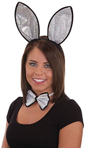 Jacobson Hat Company Women's Adult Holographic Bunny Set