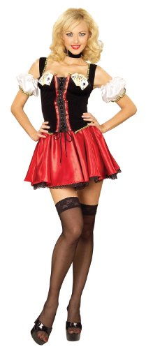 [Winning Pair Poker Mistress Adult Costume Size M/L] (Winning Halloween Costumes For Adults)