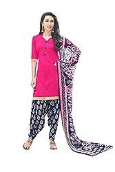 Subhash Sarees Pink Colored Glas Cotton Plain Dress Material