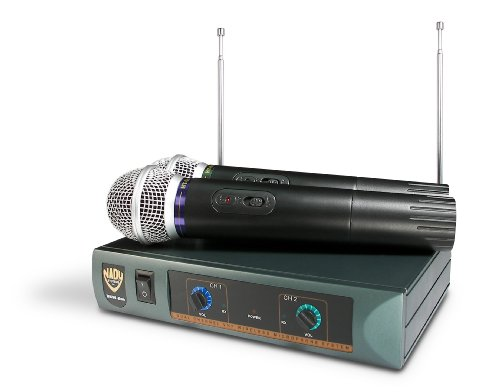 Nady Dkw Duo Ht/P/R Vhf Dual Receiver Handheld Microphone System