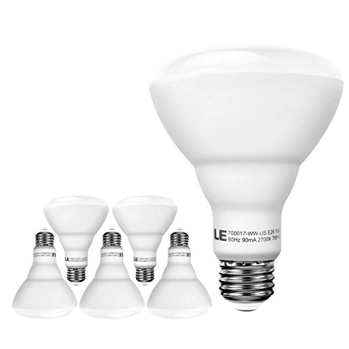 LE® 65W Replacement BR30 E26 LED Bulbs, 750lm,
