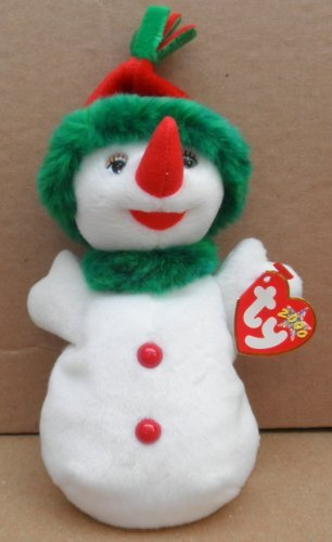 TY Beanie Babies Snowgirl Stuffed Animal Plush Toy - 8 inches tall by Smartbuy - 1