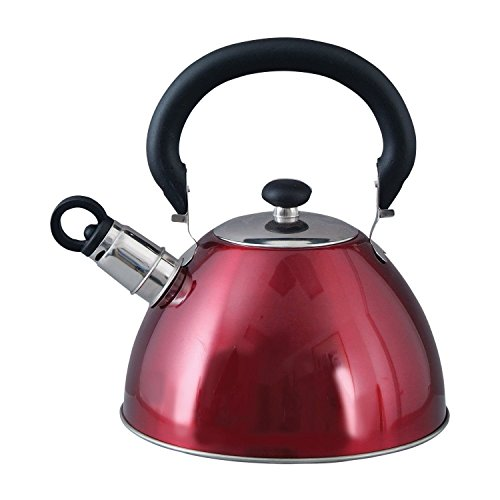 Mr. Coffee Whistling Tea Kettle, 1.8-Quart, Red, New, (Kettle Hello Kitty compare prices)