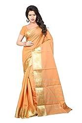 Sanju Dashing Cream Art Silk Traditional Wear Saree for Women