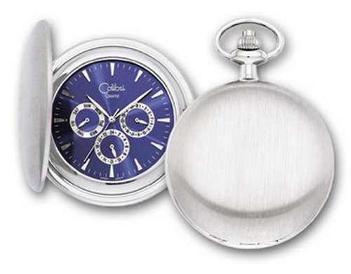 Pocket Watch Day Date 24 hour Three Eye by Colibri PWS095886Z