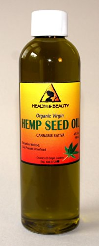 Hemp Seed Oil Organic Virgin Carrier Cold Pressed Unrefined Pure 4 Oz front-538681