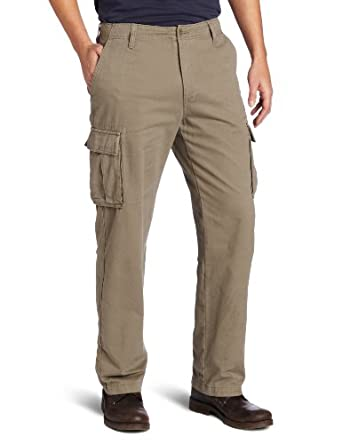 Nautica Men's Twill Cargo Pant, Baltic Brown, 32x30