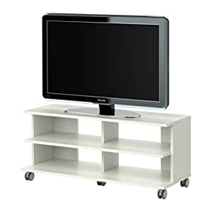 Amazon.com: BENNO TV unit with casters, WHITE: Furniture & Decor