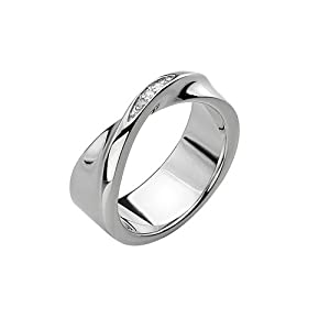 Hot Diamonds Simply Sparkle Twist Ring- Size L