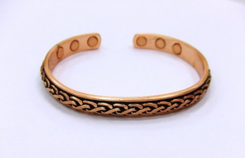 Solid Copper Magnetic Bangle