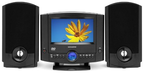 Magnasonic MAG-MMD1040 DVD Player Stereo Speaker Micro System with 7
