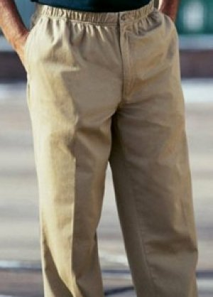 Full elastic waist pants for men