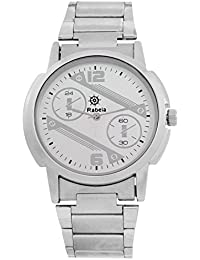 Rabela Analog White Dial Steeliness Steel Strap Watch RAB-716