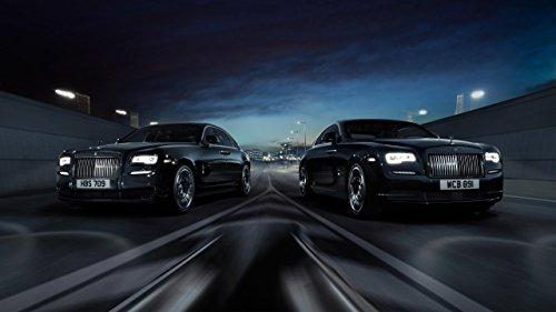 2016 Rolls Royce Ghost Wraith Black Badge Silk Wall Art Poster Print - 24x36 inch (60x90cm) (Rolls Royce Poster compare prices)