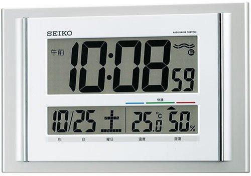 SEIKO CLOCK (セイコークロック) 掛け時計 置き時計 兼用 薄型 デジタル 電波時計 快適度表示付 SQ417S