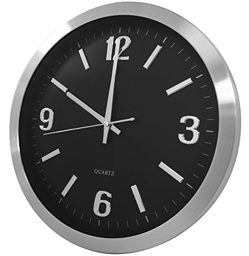 Securityman CLOCKCAM-WIFI App Based, Wall Clock iSecurity Camera (Black)