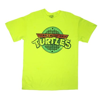 Teenage Mutant Ninja Turtles Logo Cartoon TV Show Adult T-Shirt Tee
