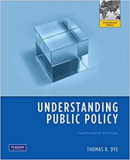 Understanding public policy 14th edition