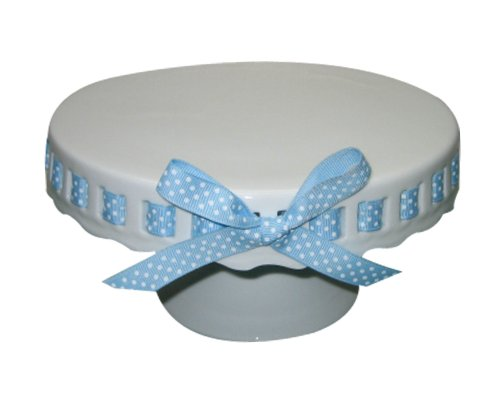 Heirloon Collection Coastline Imports Cake Stand With Ribbon