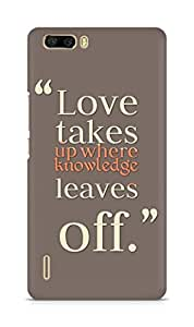 Amez designer printed 3d premium high quality back case cover for Huawei Honor 6 Plus (Love Quote 3)