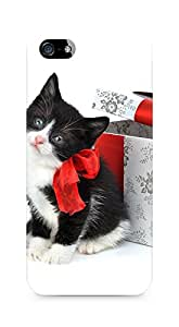 Amez designer printed 3d premium high quality back case cover for Apple iPhone 5s (Christmas Cat 2)