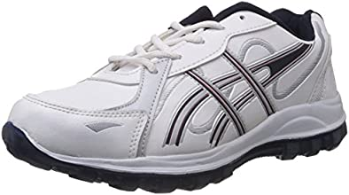 Vokstar Men's White and Blue Running Shoes - 8 UK (V-206)