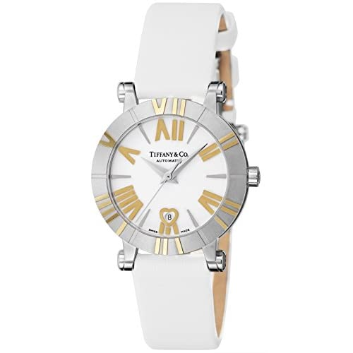 [ティファニー]Tiffany&Co. 腕時計 Atlas ホワイト文字盤 自動巻 サテンベルト Z1300.68.16A20A41A レディース 【並行輸入品】
