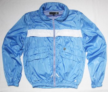 Just Cavalli Windbreaker Jacket/Gilet (Medium - 48, Light Blue)