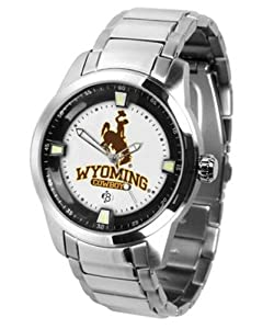 Wyoming Cowboys Titan Steel Watch by SunTime