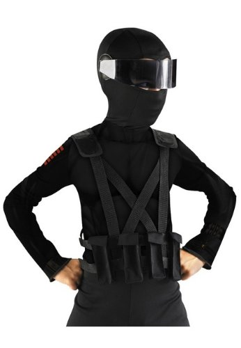 Gi Joe Snake Eyes Combat Vest and Holder - Costume Accessory