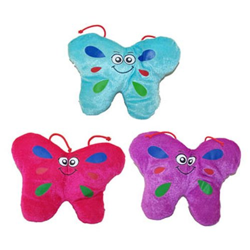 Generic Value Plush - Set of 3 BUTTERFLIES (Blue, Pink & Purple) (7.5 inch)